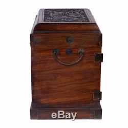 Vintage Chinese Carved Rosewood Jewelry Box 27XH07B