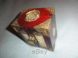 Vintage Chinese Jewelry Box with Brass and Jade