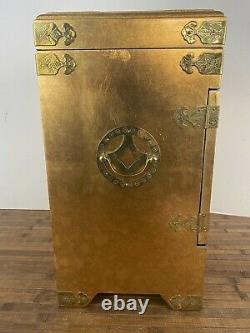 Vintage Oriental / Asian Gold Jewelry Cabinet
