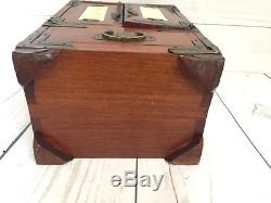 Vintage Oriental Chinese Wood Wooden Jewelry Box