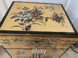 Vintage chinese X-Large- jewelry box/ chest- 19x13x10